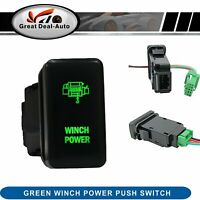 Winch Power Push Switch Green Light Fit Toyota Landcruiser 75 76 78 79 series