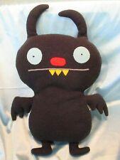 "UGLYDOLL Black Ninja Batty Shogun 15"" Tall 2009 Pretty Ugly Doll Fleece"