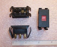 QTY (5) C&K V SERIES SNAP-IN LINE VOLTAGE SLIDE SWITCH 230V NOS