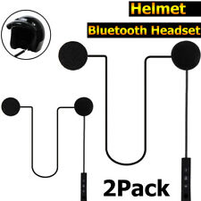 2x Motorcycle Helmet Bluetooth Headset Speaker Handsfree Headphone For Music GPS