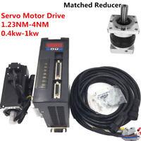 0.4KW-1KW 1.23NM-4NM NEMA32 AC Servo Motor Drive + Cable +Planetary Gear Reducer