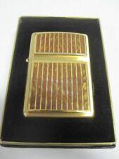 Vintage Retired Unstruck Zippo - Brown Marble 11283 XI 1995 Lighter HEAVY