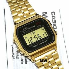 NEW CASIO VINTAGE RETRO DIGITAL GOLD WATCHES A159WGEA-1D JAPAN OLD SKOOL CLASSIC