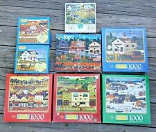 Lot of 8 Charles Wysocki Americana Buffalo Puzzles 1000 Pieces and 300 Pieces