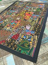 💚Stunning Indian Embroidery Black Multi Colour Wall Hanging 104cm x 154cm WH002
