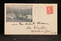 New Hampshire: Pike Station 1902 Unusual Bird's Eye View Town Advertising Cover