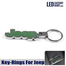 Jeep Logo Car Metal jeep Keychain Jeep Key Ring Funny Gift Green