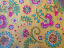 Michael Miller Ooh La La Bouquet de Fleurs Orange Floral Cotton Quilting Fabric