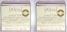 Lot Of 2 A'Kin Rosehip & Shea Intensive Moisture Anti-Oxidant Complex 1.7 oz **