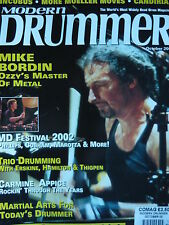 MODERN DRUMMER MAGAZINE OCT 2002 - MIKE BORDIN - CARMINE APPICE