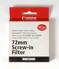 Canon 72mm UV Filter New Top