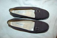 Giorgio Armani Le Collezioni Black Synthetic Loafers Shoes Size 37 1/2  Italy