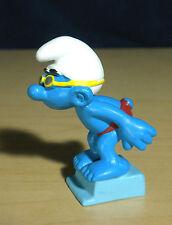 Smurfs Sport Swimmer Smurf Diving Figure Vintage Toy PVC Diver Figurine 20440