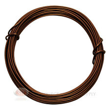 39 Ft Matte Brown Aluminum Craft Wire 12 Gauge Jewelry Making Beading Wrapping