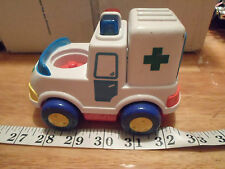 "6"" Megcos Ambulance Emergency Vehicle Lights Sound Blue Toddler Truck Car Toy"