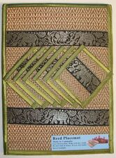 Handmade Reed Placemats with Elephants set of 6 Fair Trade from Cambodia