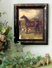 Hopkins BAY HUNTER Fox Hunt Hound Horse Print Antiqu Style Framed 11X13 sh