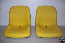 (2) YELLOW HIGH BACK SEATS JD JOHN DEERE GATOR,4X2,4X4,4X6,TURF,CX,TE,TH,TX #JR