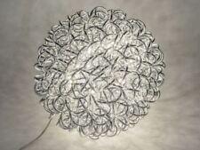 660947 Lampe Kugel silber 40cm aus geflochtenem Aluminium mit warm weissem LEDs