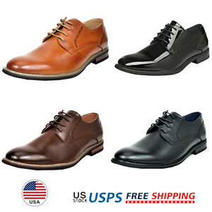 Mens Casual Shoes Lace up Oxfords Wedding Shoes Formal Dress Shoes Size US6.5-13