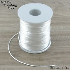 White Satin Nylon Cord 1.5mm Teething DIY Necklace Silicone Beads Jewellery 1-40