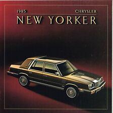 1985 CHRYSLER NEW YORKER Catálogo / CATALOG con color chart : turbo.........nos!