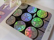 Nail Art Vinyl Manicure Stencils Guide Heart Flower Style Manicure Sticker N319