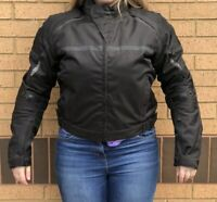 Bikers Gearbox Brand Women Ladies Motorcycle Black Leather Jacket Size L