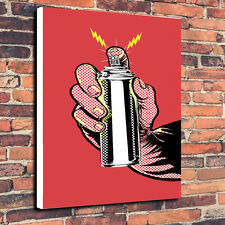 "Pop Art ""Spray Can"" Canvas Print A1.30""x20""~Deep 30mm Frame"