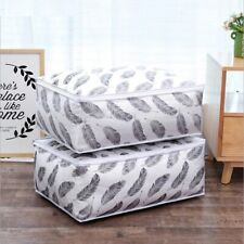 Foldable Storage Bag Clothes Blanket Quilt Sweater Closet Organizer Boxes Bags