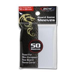 2 pack (100) BCW BOARD GAME SLEEVES 45MM X 68MM for Mini European Cards