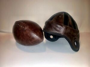 NFL Leather Vintage Novelty Football Helmet and Ball