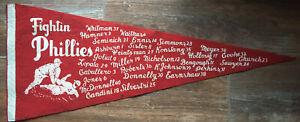 1950 PHILADELPHIA PHILLIES PENNANT w/ Players Names/Numbers! *RARE*