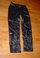 Vtg Nine West Womens High Waisted Black Leather Pants No Pockets Sz 8 Nice!!!