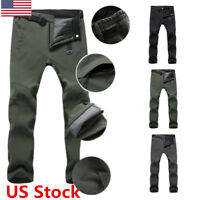 New Men's Windproof Quick Drying Outdoor Hiking Camping Pants Winter Trousers