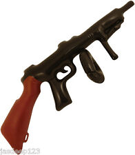Inflable Explotar Tommy Gun Fancy Dress Party Prop Máquina Negro 1920s Mafia