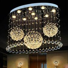 Modern LED K9 Clear Crystal Ceiling Light Pendant Lamp Chandelier Lighting #2161