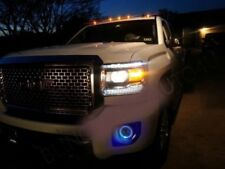 Blue Halo Fog Lamps Driving Light Kit for 2007-2013 GMC Sierra 1500 & Denali