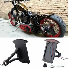 LED SIDE MOUNT LICENSE PLATE BRACKET TAIL LIGHT For CB750 XS650 Chopper Bobber