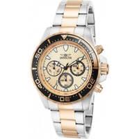 Invicta Men's Watch Pro Diver Rose Gold Tone Dial Two Tone Bracelet 12917