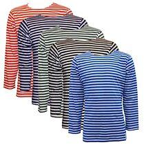 Russian Navy Telnyashka Marine Sailor Cotton T Shirt Long Sleeve, Striped
