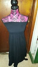 AMERICAN EAGLE OUTFITTERS  (M) COTTON BLEND SOLID BLACK DRESS