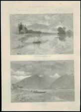 1887-Canadá Columbia Británica Río Kootenay lago Kootenay inferior (141)