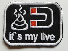 Patch écusson Fun Pistole It 's my live avec Velcro Noir