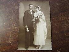 PHOTO ANCIENNE   VINTAGE SNAPSHOT WEDDING   MARIAGE BRETAGNE