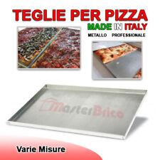 Teglia per pizza rettangolare in metallo per forno legno elettrico focaccia