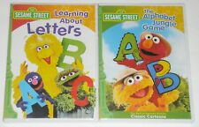 Kid DVD Lot - Sesame Street Learning about Letters & Great Alphabet Game (New)