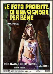 LE FOTO PROIBITE DI UNA SIGNORA PER BENE MANIFESTO CINEMA GIALLO 1970 POSTER 2F