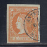 ESPAÑA (1860/61) USADO SPAIN - EDIFIL 52 (4 cu) ISABEL II - LOTE 1