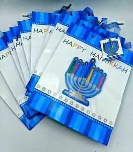 9 Cub Size Hanukkah Chanukah Gift Bags Menorah Star of David